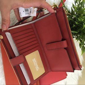 Michael Kors jet set 3 in 1 double zipper wallet